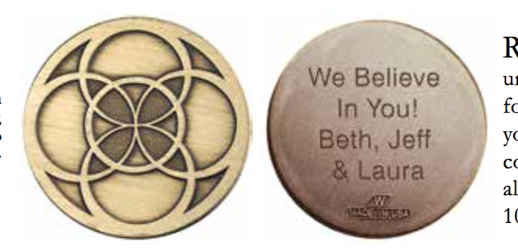 Personalized Engraved Renewal Bronze Medallion - RecoveryChip