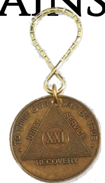 AA Medallion Bronze Keychain Year 1 - 50 Keytag - RecoveryChip