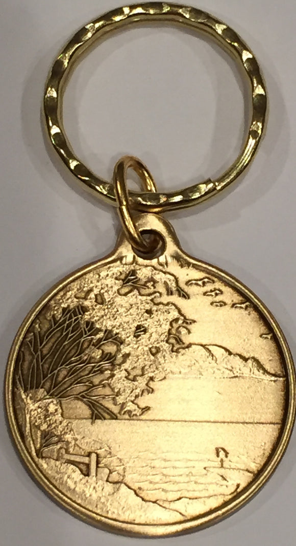 Serenity Is When I Stop Wishing For A Better Yesterday Medallion Keychain - RecoveryChip