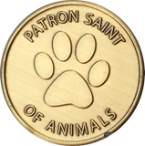 Saint Francis of Assisi Protect My Pet Patron St Of Pets Paw Print Medallion Coin Dog Cat - RecoveryChip