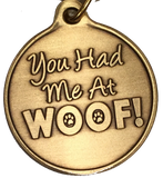 You Had Me At Woof Heart Paw Print Keychain Dog Cat Gift - RecoveryChip