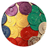 Bulk Lot 30 Aluminum Colored AA Medallions 5 Each Months 1 2 3 6 9 Month & 24 Hours - RecoveryChip