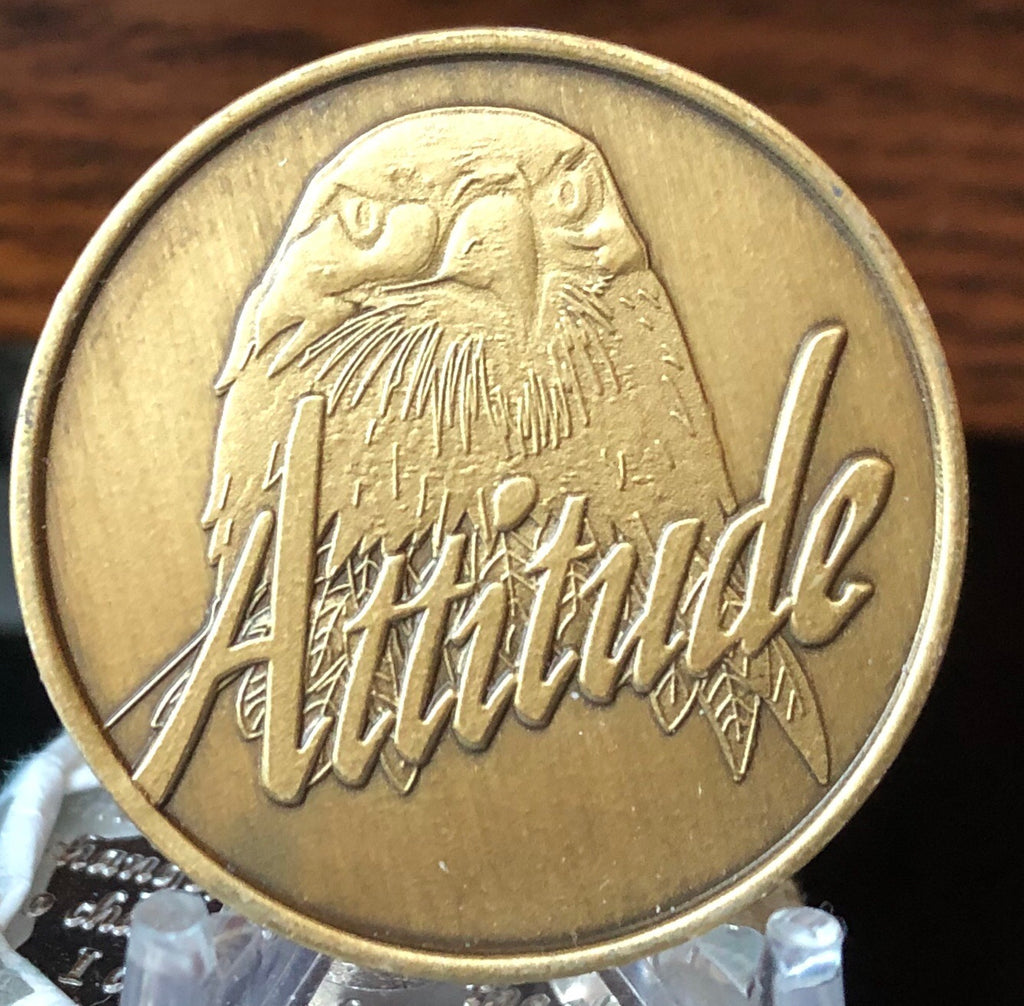 Attitude Every Day Matters Eagle Medallion Chip Coin Bronze