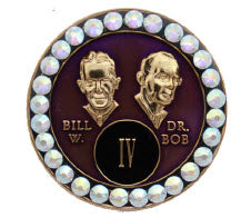 AA Founders Purple Tri-Plate Crystal AB Swarovski Crystals Year 1 - 50 - RecoveryChip