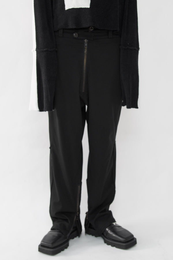 High Rise Tactical Suit Pants