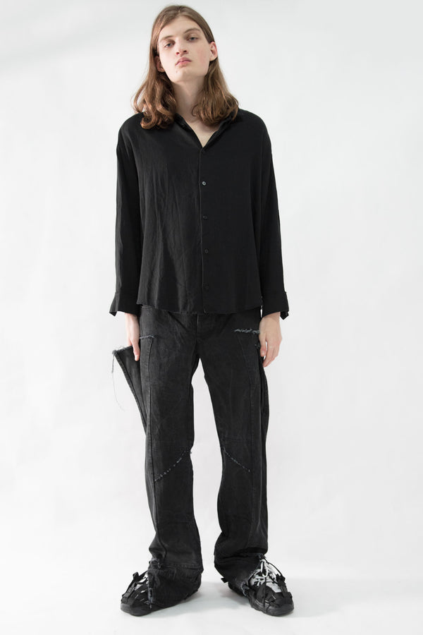 Cropped Classic Wool Shirt - CARL IVAR