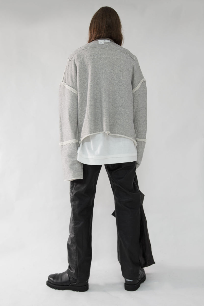 Reversible High Neck Sweater