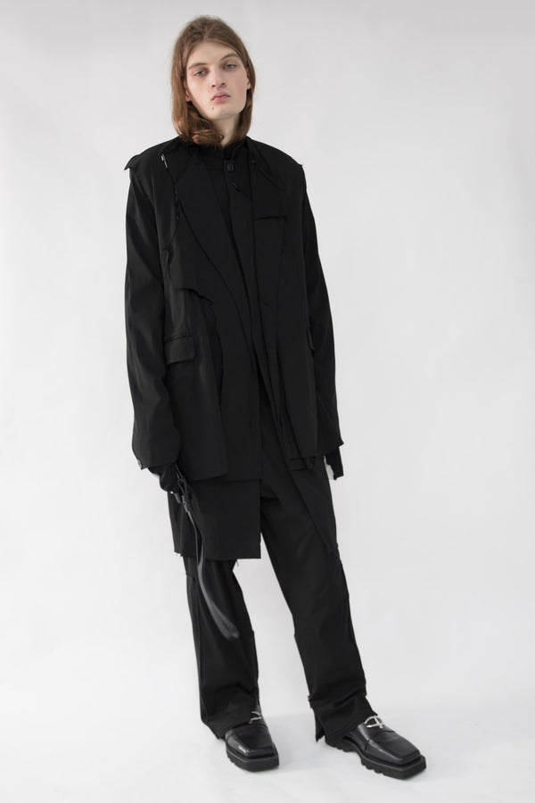 Layered  Deconstructed Coat