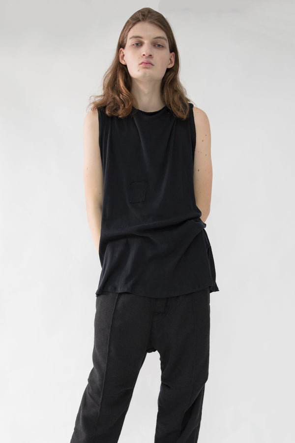 Asymmetrical Crewneck Tank Top
