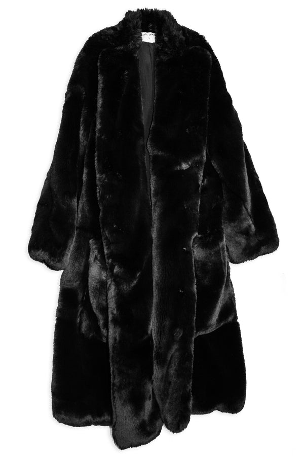 CARL IVAR FAUX FUR COAT - CARL IVAR - carlivar -