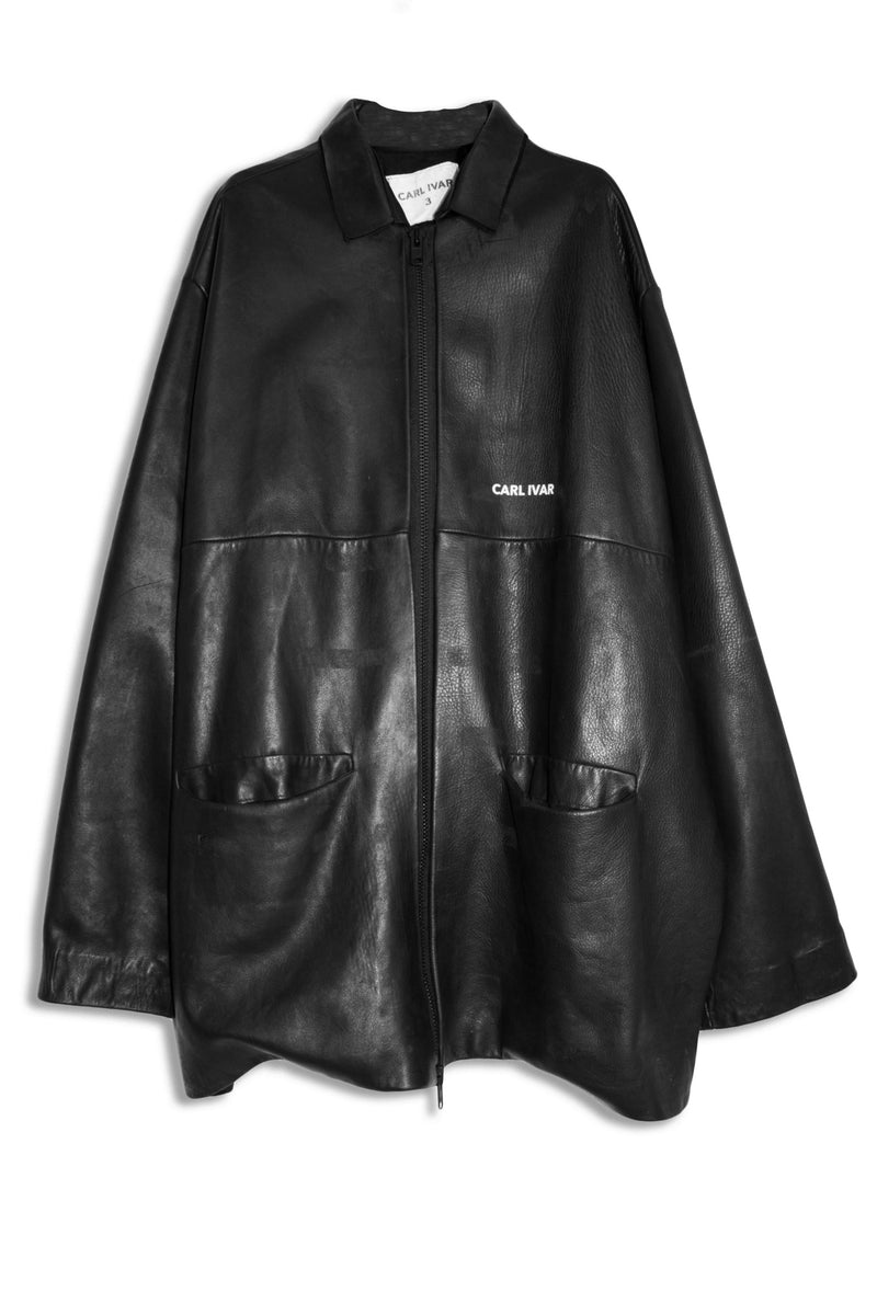 CARL IVAR OVER SIZED LEATHER COAT