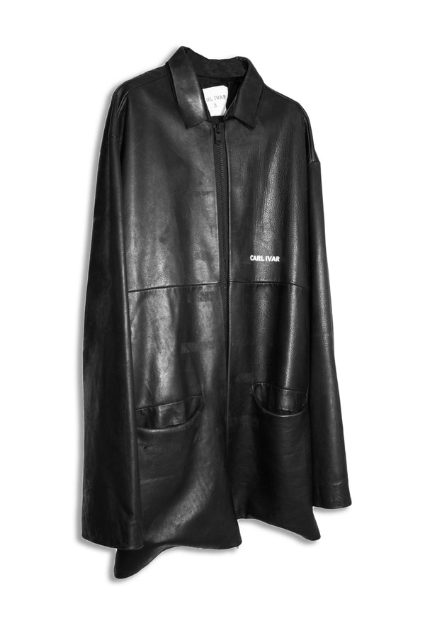 CARL IVAR OVER SIZED LEATHER COAT - CARL IVAR
