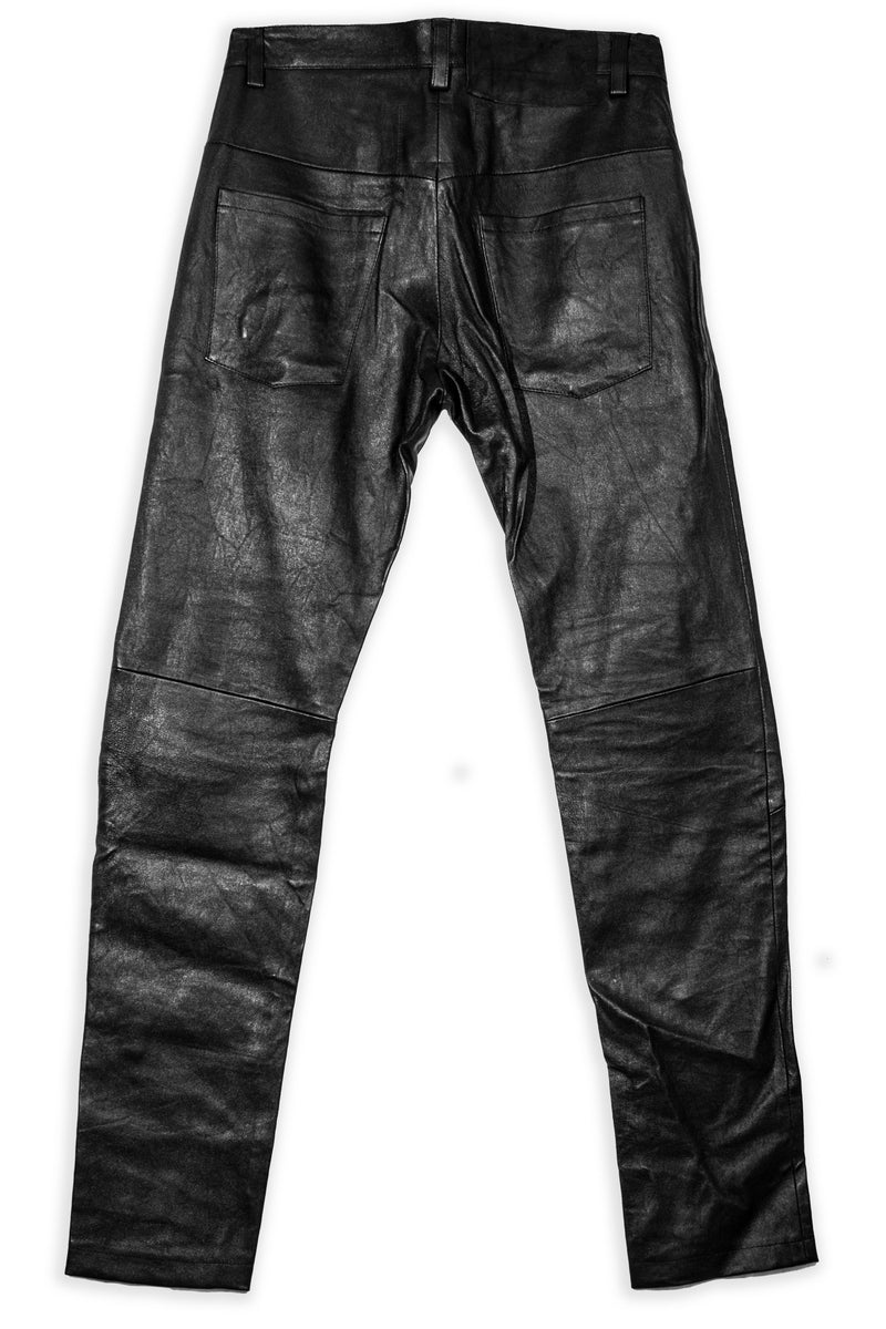 CARL IVAR BLACK LEATHER PANTS - CARL IVAR - carlivar -