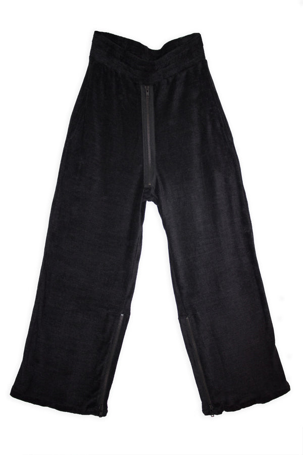 CARL IVAR VELOUR ZIPPER PANTS