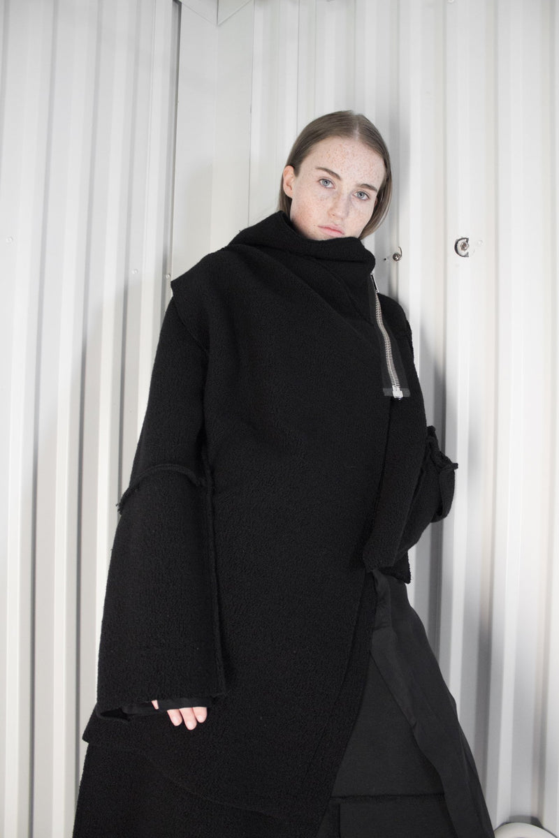 NELLY JOHANSSON ASYMETRICAL WOOL COAT