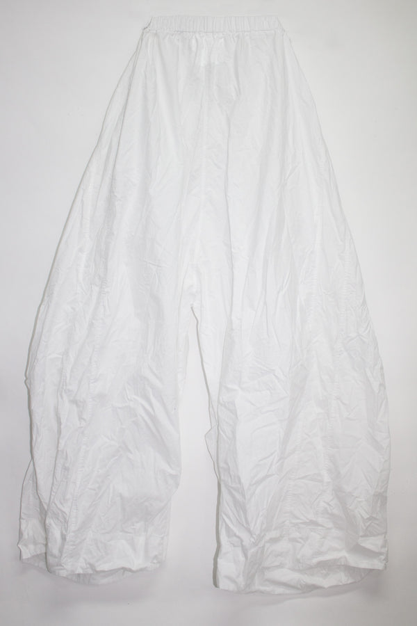 Wide Drawstring Cotton Pants