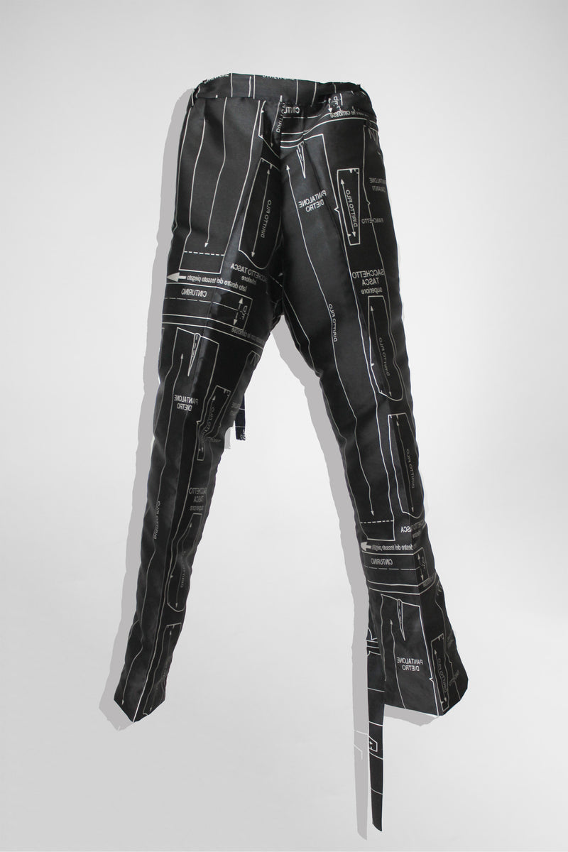 CARL IVAR PRINTED PRESSFOLD PANTS WITH BELT - PRINT - CARL IVAR - carlivar -