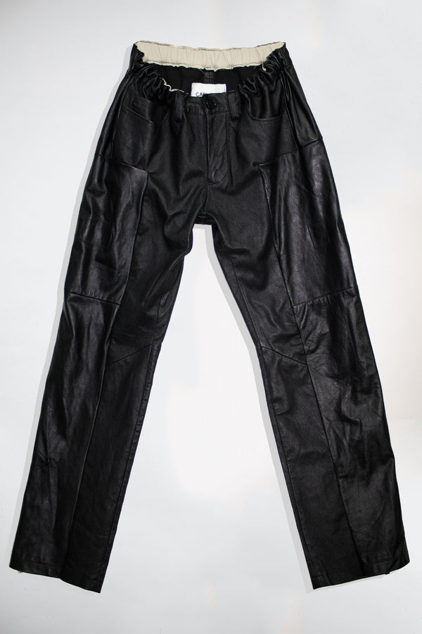 Straight Fit Leather Pants