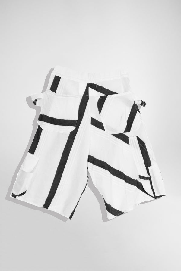 Silk Blend Stipe Shorts - CARL IVAR