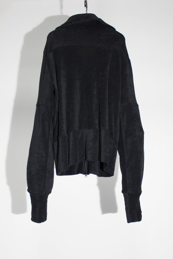 Velour Zip Sweater - CARL IVAR