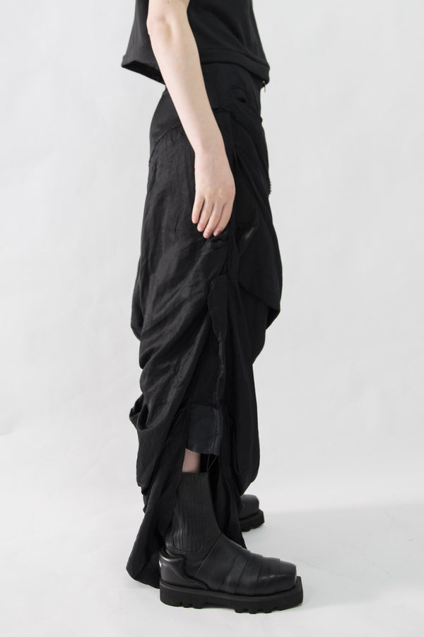 Draped Concept Dress Pants