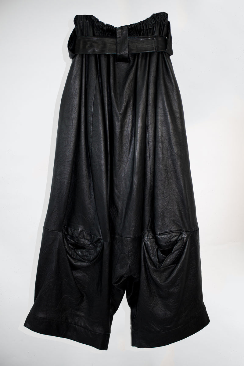 Drop Crotch Leather Pants - CARL IVAR - carlivar -