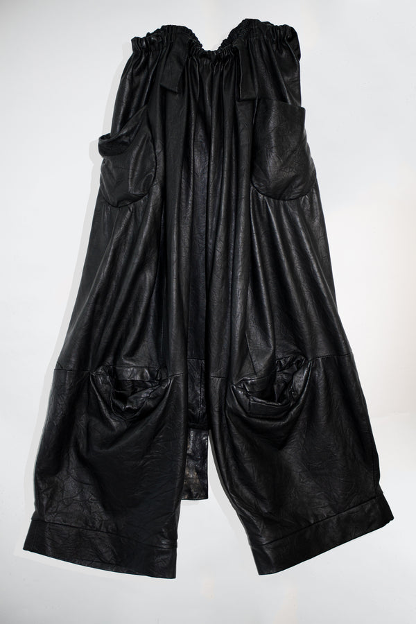 Drop Crotch Leather Pants - CARL IVAR