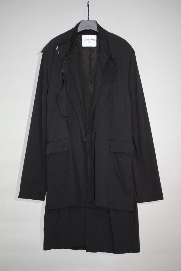 Layered  Deconstructed Coat - CARL IVAR - carlivar -