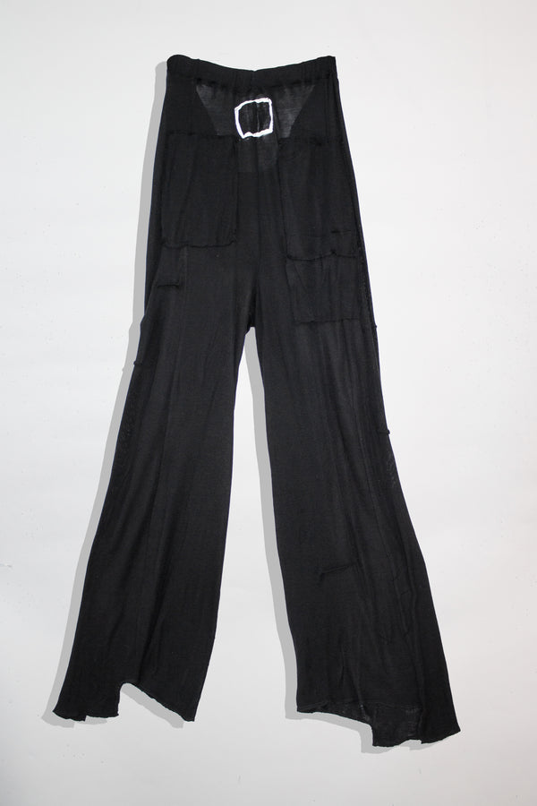 Flared Silk Pants - CARL IVAR - carlivar -