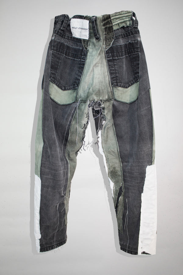 Leather Patched Boyfriend Jeans - CARL IVAR - carlivar -