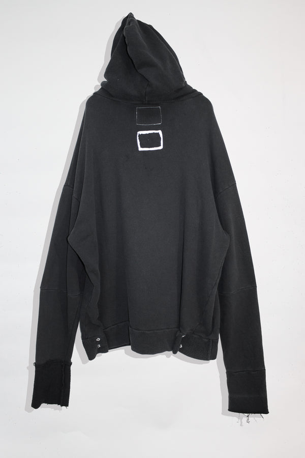 Wire Pierced Distressed Hoodie - CARL IVAR - carlivar -