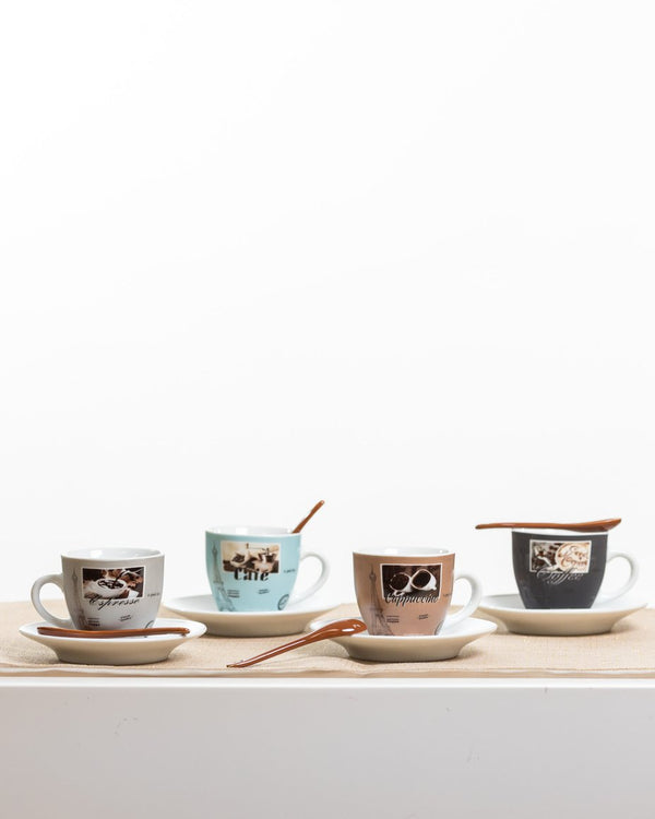 6oz Coffee Styles Set/4 - Coffee Time Collection