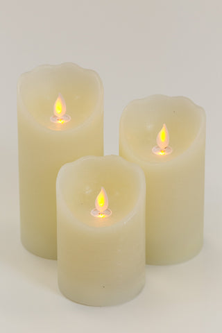 Set of 3 LED Pillar Candle with remote - Casa Febus - Home • Design