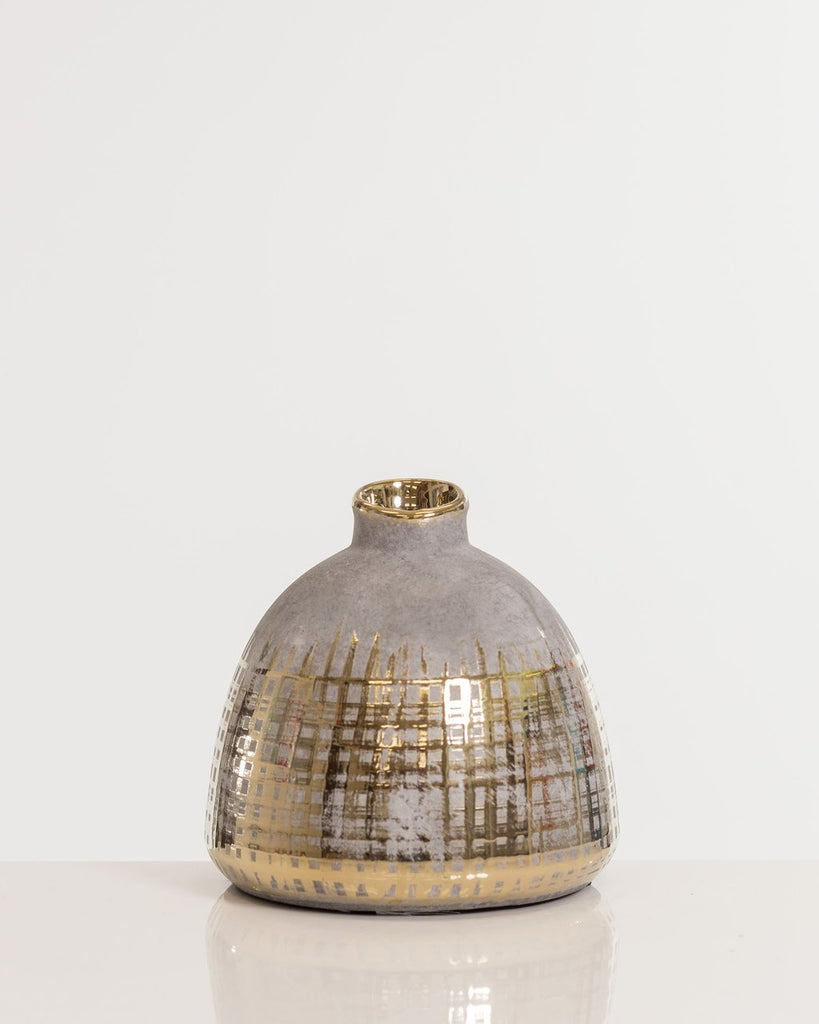Gold Boho Chic Vase Pot- Shades Collection