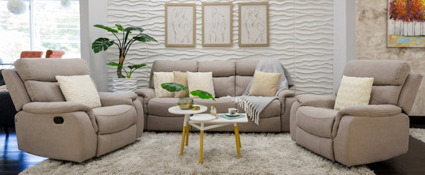 Alexi Deluxe 2 Armchair + Sofa: Sand Color