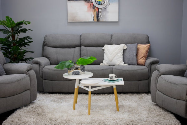 Alexi Deluxe 2 Armchair + Sofa: Gray Color