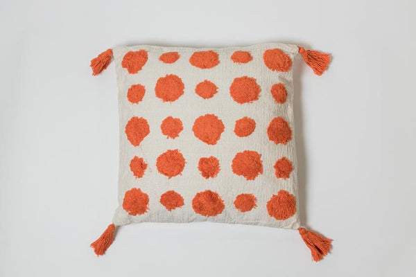 Dots Orange Pillow - Brodé Collection