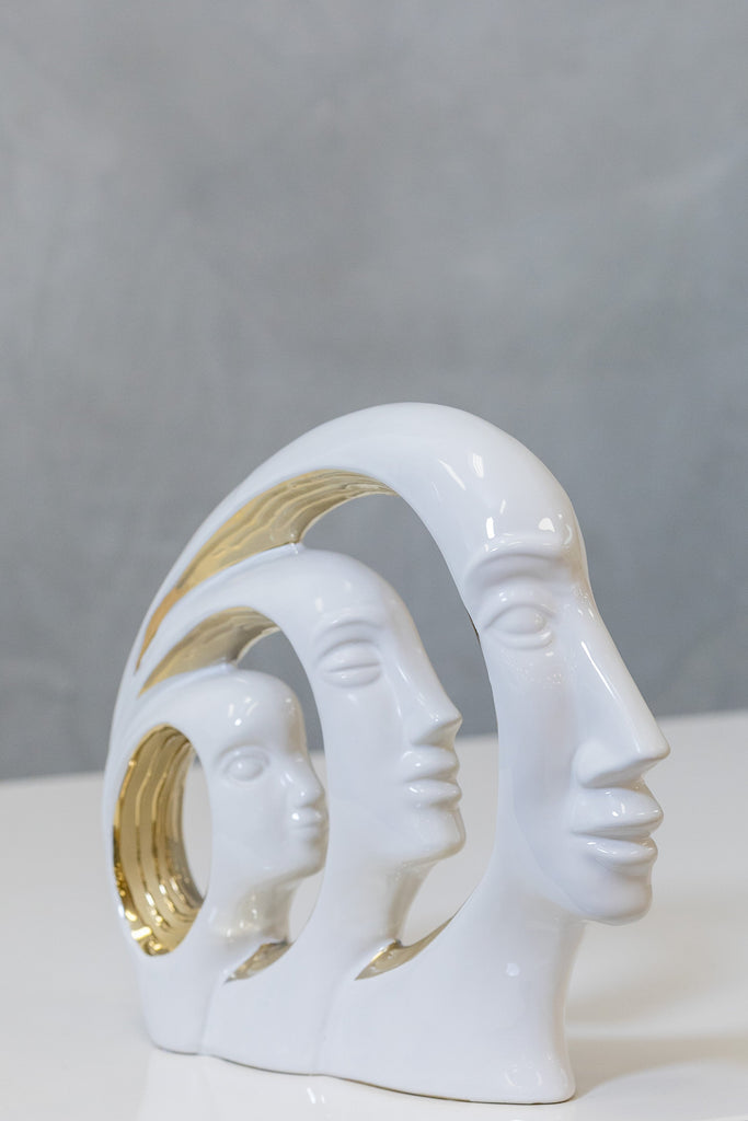"14"" White/Gold Faces - Pur Ceramic Collection"