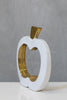 "10"" White/Gold Apple - Pur Ceramic Collection"
