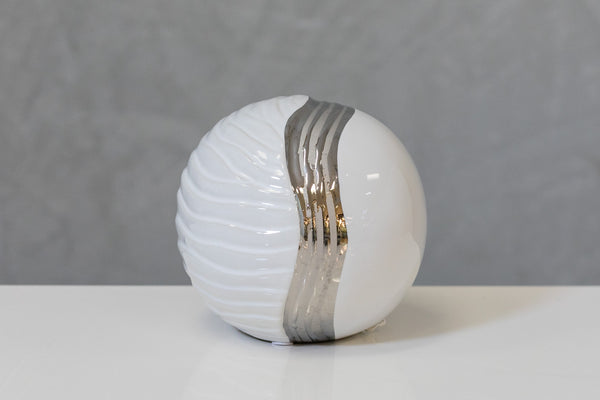 "5"" White/Silver Ball - Pur Ceramic"
