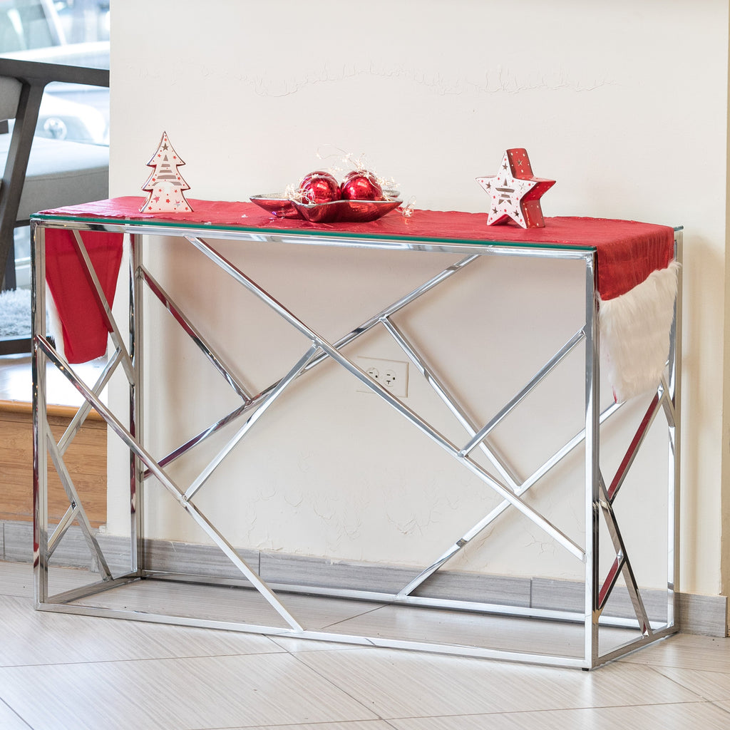 "47"" x 31""  Geo Console Table - Miraggio CollectionGeo"