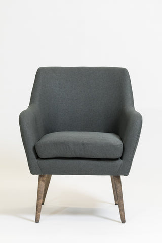 "33"" Luxembourg Armchair - Charcoal Gray"