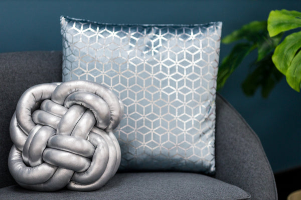Globular Knot Pillow (Silver)- Hayden Collection