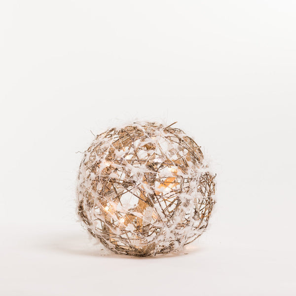 "8""  Gold Ball w/light - Boho Chic Collection"