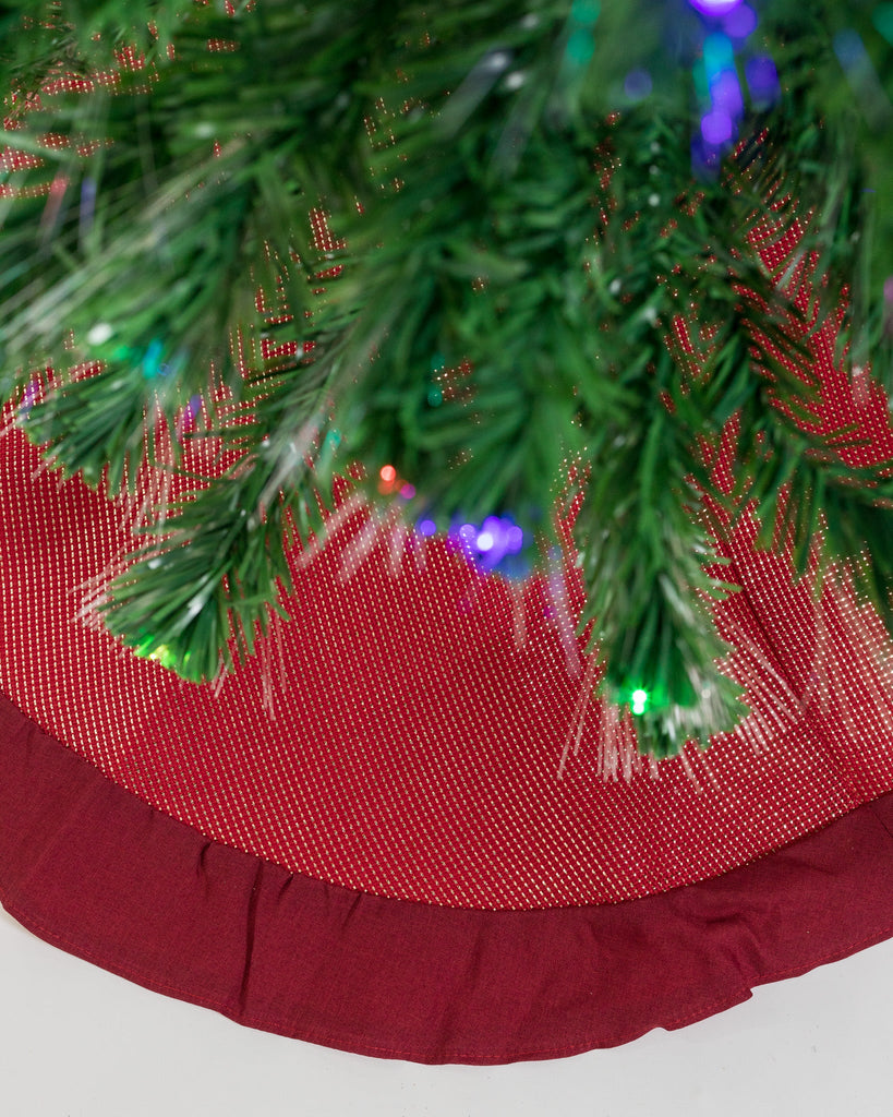 "48"" Metallic Red Tree Skirt - Metallic Collection"