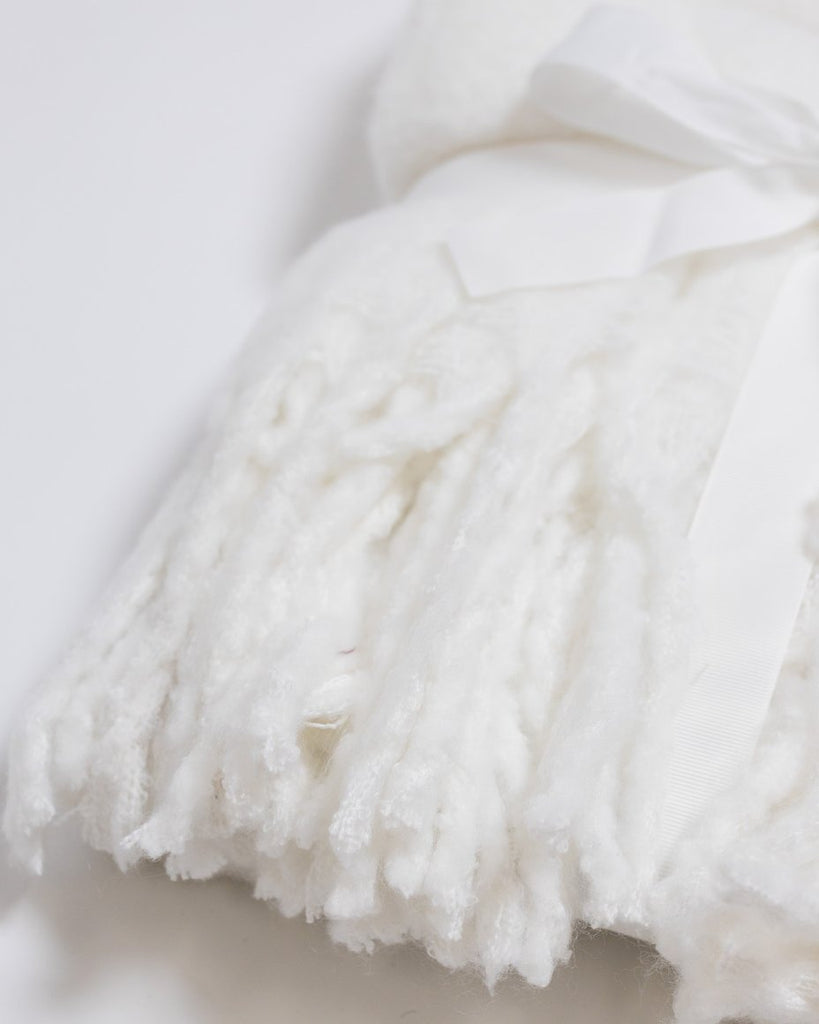 "50""x 60"" Fluffy Throw Blanket White"