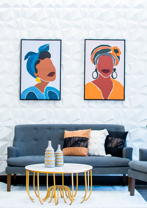Massai Woman Blue Wall Décor - Artista Collection