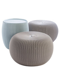 Urban Knit Pouf 3pcs Set - Various Colors (Exclusively Online)