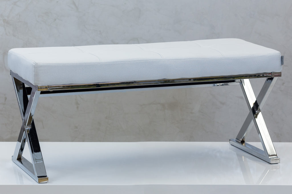 "39"" Reflections Bench - White"