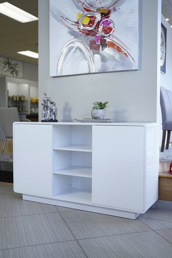 Buffet White High Glossy